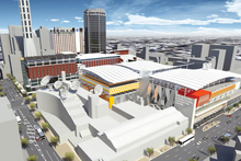 An artists impression of the proposed Convention centre for Auckland. Photo / Supplied