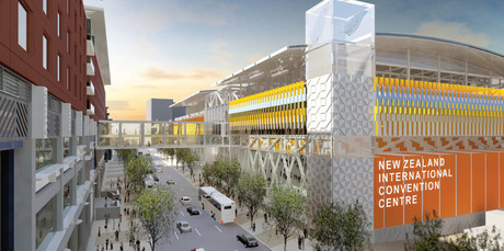 An artist's impression of the proposed convention centre for Auckland. Photo / Supplied