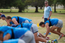 The players have heard John Kirwan's bark and some even his bite. Photo / Greg Bowker 
