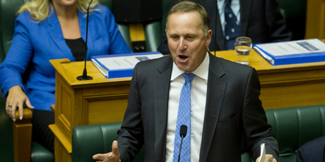 Prime Minister John Key was forced to defend his role in talks with SkyCity over a convention centre.  Photo / Mark Mitchell