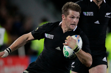 McCaw fits the physical bill for blindside. He is a brutal defender with a massive workrate, strong over the ball without being the most fluent in possession. Photo / NZ Herald
