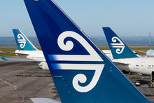 Air NZ spokeswoman Kelly Kilgour said the issue was not that the child's crying, but that he was not restrained in his seat. Photo / Wayne Drought