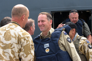 New Zealand Prime Minister John Key visits troops in Kabul, Afghanistan in 2010. Photo / Maggie Tait