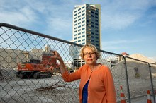 Amanda Cropp has managed to find some positives in the aftermath of the 2011 quake. Photo / Martin Hunter