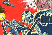 Rufus Dayglo's cover graphic for Judge Dredd
