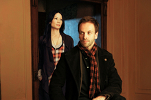 Lucy Liu and Jonny Lee Miller in Elementary. Photo / Supplied
