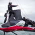 Team NZ test out the new AC72 America's Cup boat in the Hauraki Gulf. Photo / Natalie Slade