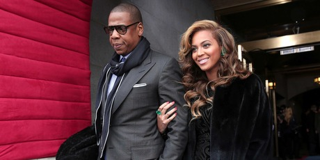 Jay-Z and Beyonce at the US Presidential Inauguration. Photo/AP