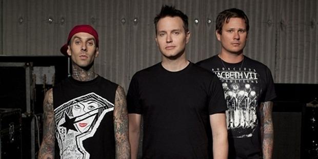 Travis Barker, left, Mark Hoppus and Tom DeLonge of Blink-182. Photo/supplied