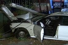 The crash scene in Huia Rd, Otahuhu, in South Auckland.
