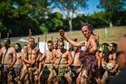 A performance during the powhiri at the kapa haka festival. Photo / Te Matatini 2013