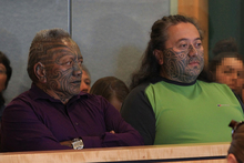 Tame Wairere Iti sits with Te Rangikaiwhira Kemara. Photo / File / Greg Bowker