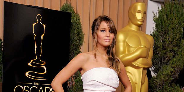 Jennifer Lawrence is the favourite to win best actress at the Academy Awards. Photo/AP