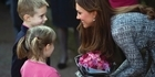 Watch: Raw: Pregnant Kate visits charity amid author row