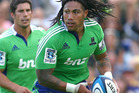  Ma'a Nonu of the Highlanders makes a break during the Super Rugby trial match between the Highlanders and the Blues. Photo / Getty Images