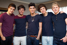 Niall Horan, right, and his One Direction bandmates. Photo/Sarah Ivey