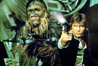Harrison Ford as Han Solo and Peter Mayhew as Chebacca in Star Wars. Photo/supplied