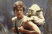 Luke Skywalker and Yoda in a scene from The Empire Strikes Back. Photo/supplied