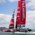 Team NZ tests the new AC72 boat in the Hauraki Gulf. Photo / Natalie Slade 