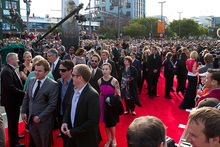 Guests arrive on the red carpet at The Hobbit premiere in Wellington. Photo/Mark Mitchell