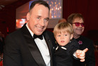 David Furnish, Zachary Furnish-John and Sir Elton John attend the 21st Annual Elton John AIDS Foundation Academy Awards Viewing Party at Pacific Design Center in West Hollywood, California. Photo / Getty Images