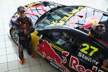Casey Stoner unveils his Development Series V8 Supercar in Adelaide. Photo / Getty Images