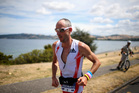 Bervan Docherty of New Zealand runs during the New Zealand Ironman. Photo / Getty Images