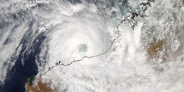 Loading Tropical Cyclone Rusty hangs over the Pilbara. Photo / NASA