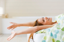 Stretching in bed feels so darn good. But what if you hear cracking?Photo / Thinkstock