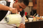 Sushil Ravikumar and his Avocado Milkshake. 