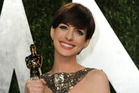 Oscar winning actress Anne Hathaway rocks a pixie cut after chopping her locks on screen in 'Les Miserables'. Photo / AP