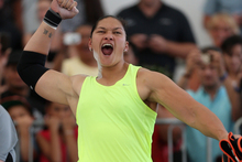 Val Adams set the best women's shot put throw in the world this year. Photo / Getty Images