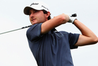 Rohan Blizard of Australia tees off during day three of the New Zealand PGA Championship. Photo / Getty Images.
