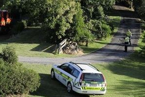 Emergency services gathered at the semi-rural Papamoa home. Photo / George Novak