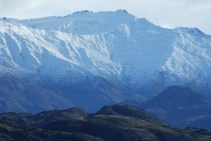 A bright light was seen descending behind Treble Cone. Photo / Otago Daily Times