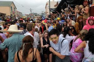 Last year's celebrations on Hyde Street. Photo / Otago Daily Times