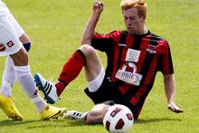 Canterbury midfielder Aaron Clapham. Photo / Getty Images.