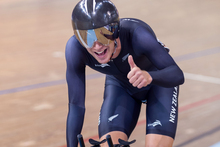 Twenty-two year old rookie Aaron Gate had an agonising wait before being crowned track cycling world champion in Minsk, Belarus today. Photo / Guy Swarbrick.