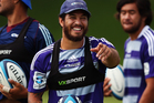 Rene Ranger runs through drills during a Auckland Blues Super Rugby training session. Photo / Getty Images.