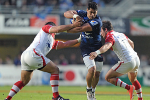 Montpellier and formerWellington flanker Alex Tulou rejected overtures to represent Samoa after talking to France coach Philippe St Andre. Photo / AFP