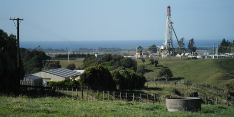 Fracking may be used at some of the 83 wells at Tikorangi, an area of prime dairying land and lifestyle blocks in Taranaki. Photo / Paul Charman