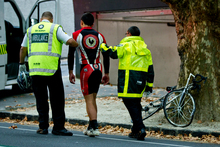Incidents like the collision between this cyclist and a motorist in Auckland City, yesterday morni