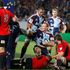 Blues Luke Braid scores a try against the Crusaders in their Super Rugby match at Eden Park Auckland. Photo / Richard Robinson.