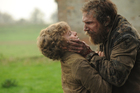 Ralph Fiennes as Magwitch with co-star Jeremy Irvine as Pip in Great Expectations. Photo / Supplied