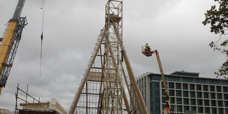The Transitional 'Cardboard' Cathedral in Christchurch. Photo / The Star