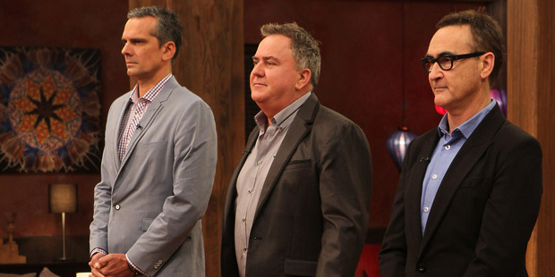 MasterChef NZ judges (from left) Josh Emett, Simon Gault, and Ray McVinnie.