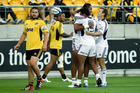 The round two Super Rugby match between the Hurricanes and the Blues. Photo / Getty Images