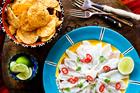 Nici Wick's fresh Mexican cerviche dish. Photo / Babiche Martens