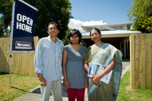 Richard Micah, daughter Jessie and wife Grace are finding choices limited in Mt Roskill. Photo / Dean Purcell