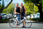Twin brothers Glen (left) and Tony Marsh are competing in the Ironman in Taupo this weekend. Photo / Dean Purcell